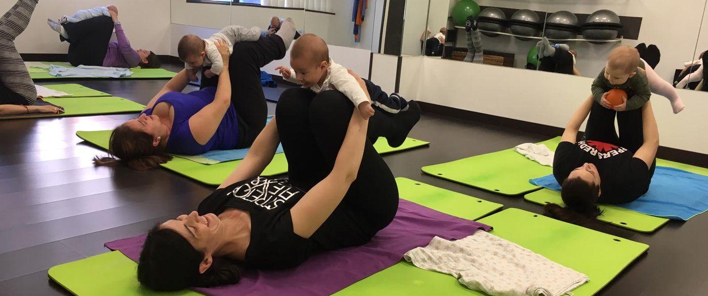 Clases de Pilates con bebés en Valdemoro