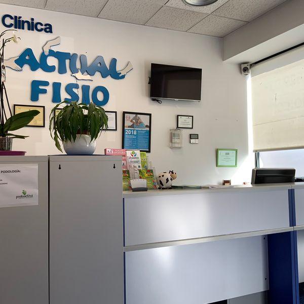 Recepcion clinica actualfisio valdemoro fisioterapia osteopatia pilates podologia diatermia plantillas